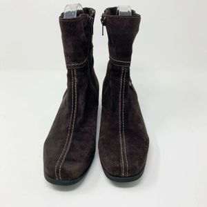 La Canadienne Ankle Boots Women's Dark Brown Suede